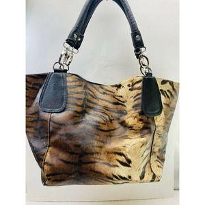 Alyssa Animal Print Wild Faux Leather Tote